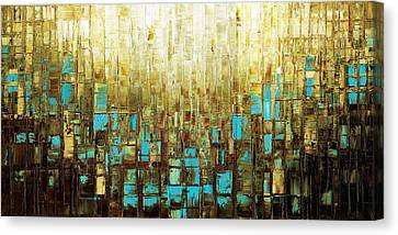 Abstract Geometric Mid Century Modern Art Canvas Print
