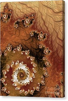 Brown Tones Canvas Print - Earth Rhythms by Heidi Smith