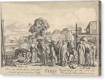 Terra Canvas Print - Earth Terra, Jan Van De Velde II by Jan Van De Velde (ii)