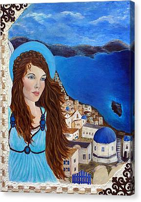 Earthangel Athena Canvas Print by The Art With A Heart By Charlotte Phillips