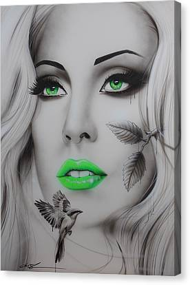 Lady Gaga - ' Earthbound ' Canvas Print by Christian Chapman Art