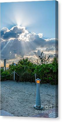 Earthly Light And Heavenly Light  Canvas Print