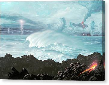 Earth's First Oceans Canvas Print by Richard Bizley