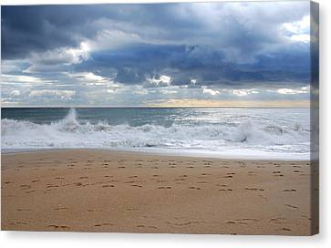Earth's Layers - Jersey Shore Canvas Print