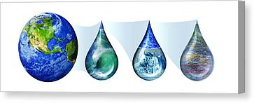 Earth's Water Resources Canvas Print