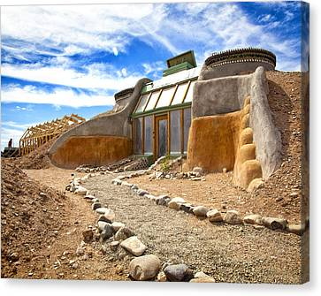 Earthship Taos  Canvas Print by Shanna Gillette