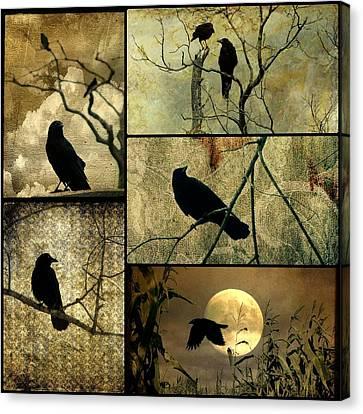 Earthy Crows Canvas Print