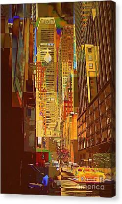 East 45th Street - New York City Canvas Print by Miriam Danar