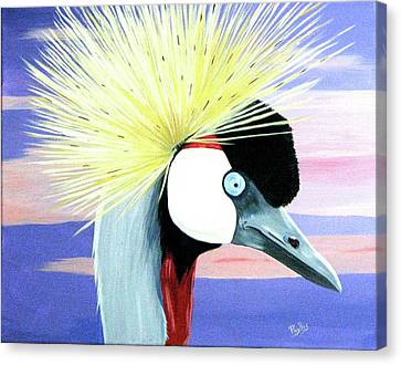 East African Crowned Crane Canvas Print by Phyllis Kaltenbach