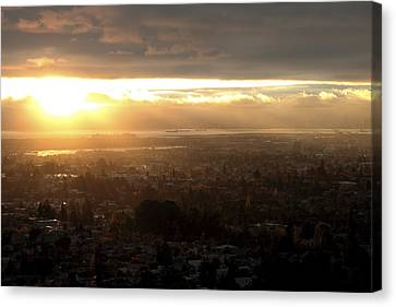 East Bay Sunset Canvas Print