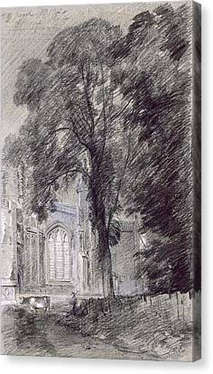 East Bergholt Church - West End Canvas Print by John Constable
