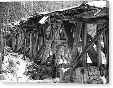 East Branch And Lincoln Railroad - Timber Trestle 16 Canvas Print