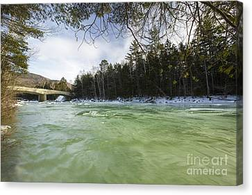 East Branch Of The Pemigewasset River - Lincoln New Hampshire Usa Canvas Print by Erin Paul Donovan