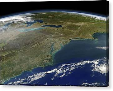 East Coast Of The Usa, Satellite Image Canvas Print by Science Photo Library