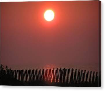 East Coast Sunrise Canvas Print by John Wartman