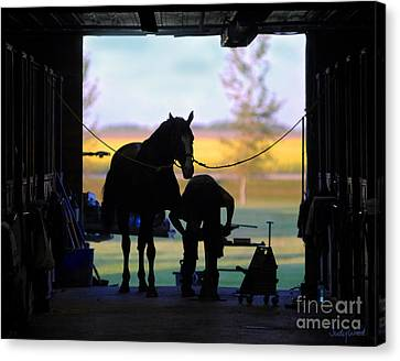 East Door Farrier Canvas Print by Judy Wood