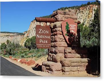 East Entrance, Zion National Park, Utah Canvas Print