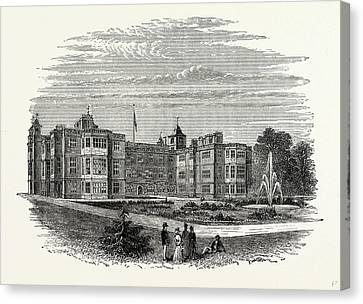 East Front, From The Garden, Audley End, Uk Canvas Print by Litz Collection