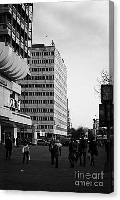 east german communist construction buildings on Karl-Marx-Allee Berlin Germany Canvas Print by Joe Fox