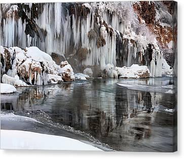 East Idaho Winter Canvas Print by Leland D Howard