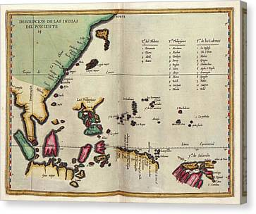 1622 Canvas Print - East Indies by Library Of Congress, Geography And Map Division