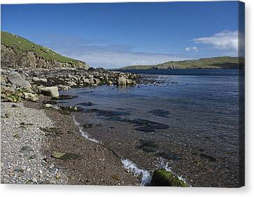 East Lunna Voe Canvas Print by Steve Watson