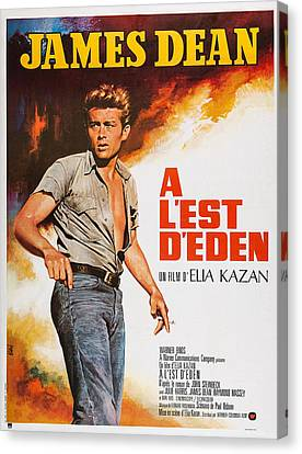 East Of Eden, French Poster Art, James Canvas Print by Everett