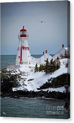 East Quoddy Head Lighthouse Canvas Print by Alana Ranney