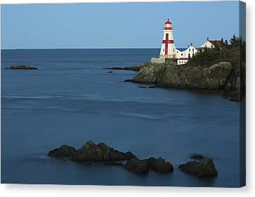 East Quoddy Lighthouse At Dusk Canvas Print