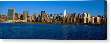 East River And New York Skyline, View Canvas Print by Panoramic Images