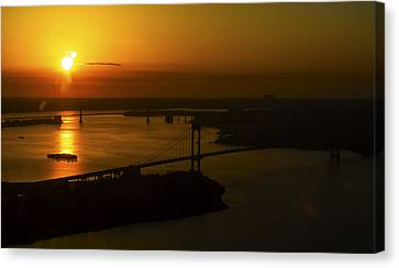 East River Sunrise Canvas Print by Greg Reed