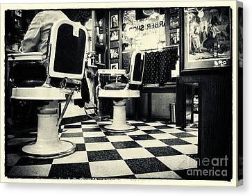 East Side Barber Shop New York City Canvas Print