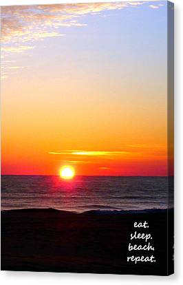 East. Sleep. Beach Sunrise Canvas Print