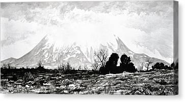 East Spanish Peak Canvas Print by Aaron Spong