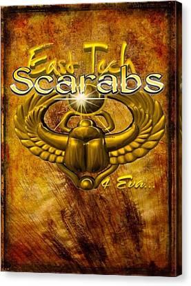 East Tech Scarabs4eva Canvas Print