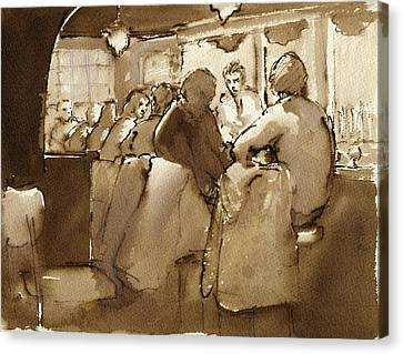 East Village Canvas Print - East Village Bar 1984 by Thor Wickstrom