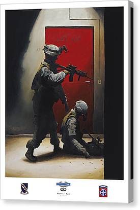 Abn Canvas Print - West Vs East 508th Pir by Joshua Donaldson