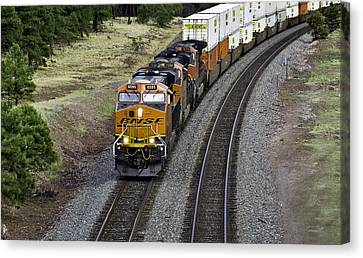 Eastbound Freight Canvas Print