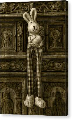 Easter Bunny From The Past Canvas Print by Gynt