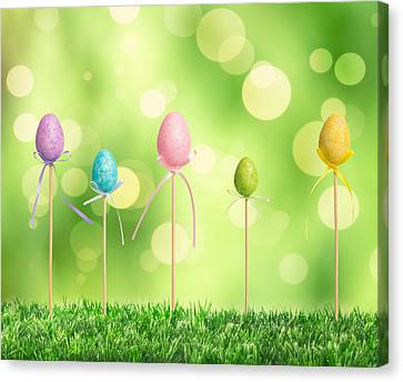 Easter Eggs Canvas Print by Amanda Elwell