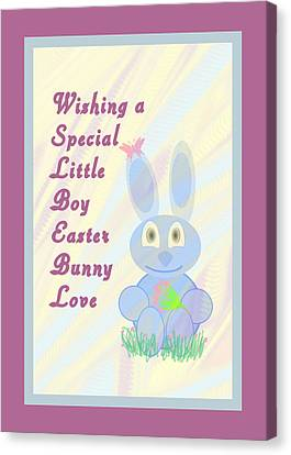 Easter For Small Boy Canvas Print by Rosalie Scanlon