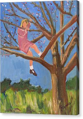 Easter In The Apple Tree Canvas Print by Betty Pieper