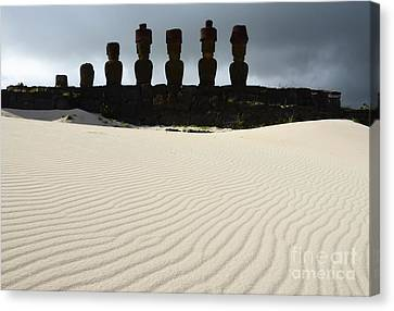 Easter Island 9 Canvas Print by Bob Christopher