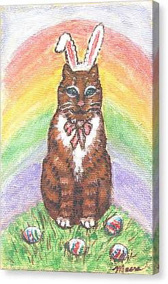 Kitten Canvas Print - Easter Kitty by Linda Mears