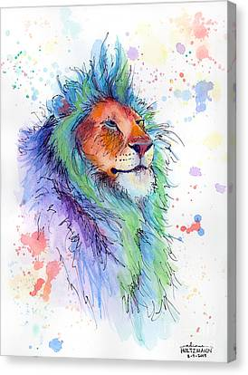 Easter Lion Canvas Print by Arleana Holtzmann