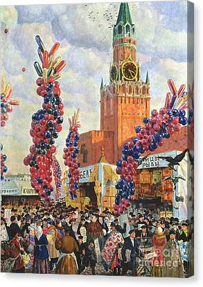 Easter Market At The Moscow Kremlin Canvas Print