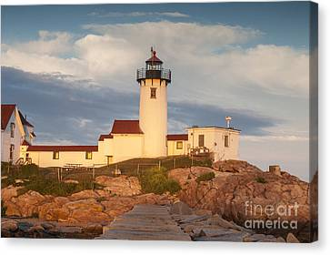 Eastern Point Lighthouse Canvas Print by Juli Scalzi