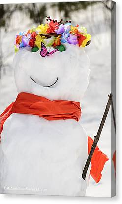 Easter Snowman Canvas Print