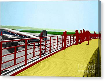 Eastern Airlines At Dca Canvas Print by Jost Houk