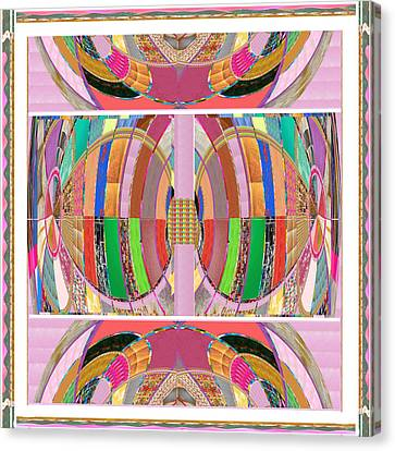 Eastern Cave Style Art Using Crystal Stones Gems N Jewels Use Your Imagination And Enjoy Canvas Print by Navin Joshi